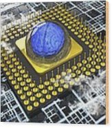 Artificial Intelligence, Conceptual Wood Print by Science Photo Library