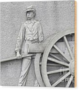 Artillery Detail On Monument Wood Print