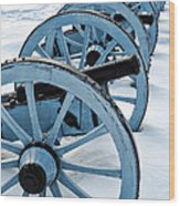 Artillery Wood Print by Olivier Le Queinec