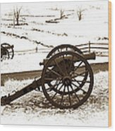 Artillery Positions - Toned Wood Print