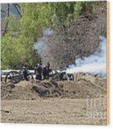Artillery Support Wood Print