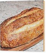 Artisan Bread Wood Print