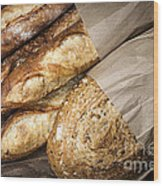 Artisan Bread Wood Print by Elena Elisseeva