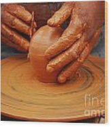 Artisan Hands Wood Print by Susan Hernandez