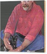 Artist At Play Wood Print