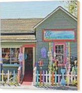 Artist Gallery In Cambria California  7142 Wood Print