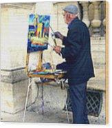 Artist In Paris Wood Print