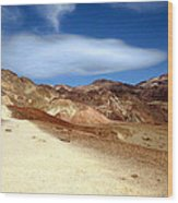 Artist Pallet Death Valley Wood Print