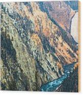 Artist Point - Yellowstone Park Horizontal Wood Print