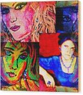 Artist Self Portrait Wood Print