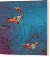 Artistic Butterflies Wood Print