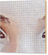 Artistic Eyes Wood Print