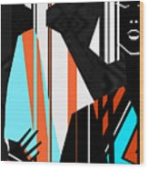 Artistic Fashion Colorful Illustration Wood Print