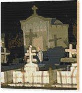 Louisiana Midnight Cemetery Lacombe Wood Print