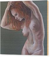 Artistic Nude Wood Print by Leida Nogueira