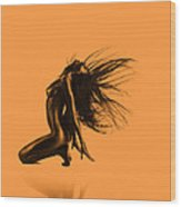 Artistic Nude Orange Wood Print