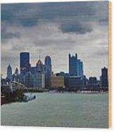 Artistic Pittsburgh Skyline Wood Print
