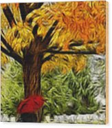 Artistic Reflection Wood Print