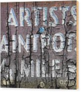 Artists' Paintpots Sign Wood Print