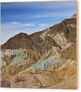 Artists Palette Death Valley National Park Wood Print