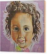Artist's Youngest Daughter Wood Print by Marwan  Khayat
