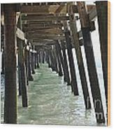 Long Walk Short Pier Wood Print