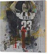 Arturo Vidal - B Wood Print