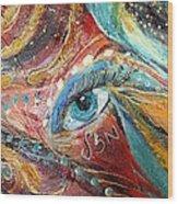 Artwork Fragment 04 Wood Print by Elena Kotliarker