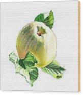 Artz Vitamins Series A Happy Green Apple Wood Print