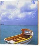 Aruba. Fishing Boat Wood Print by Anonymous