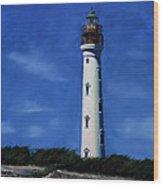 Aruba Light House Wood Print