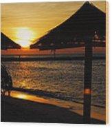 Aruba Sunset Wood Print