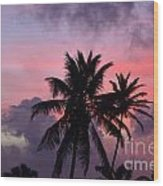 Aruba Sunset Wood Print