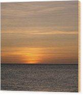 Aruban Sunset Wood Print