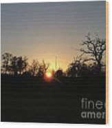 Arundel Sunset Wood Print