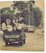 Arusha. Tanzania. Africa. A Group Of Young Men Celebrating Their Graduation Wood Print