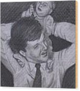As A Father Carries His Son Wood Print by Kathy Weidner