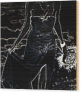 As Aphrodite Coming From Sea Foam. Black Art Wood Print by Jenny Rainbow