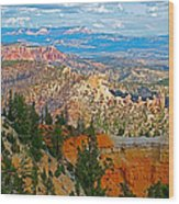 As Far As The Eye Can See From Farview Point In Bryce Canyon-utah   Wood Print