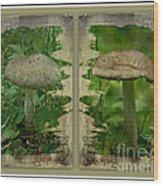As I Age - A Mushroom's Tale Wood Print