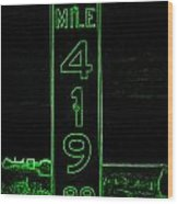 As Pure As It Gets In Green Neon Wood Print