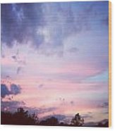 As The Sun Sets A New Dawn Begins Wood Print