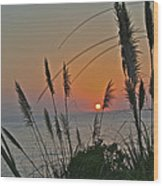 as the sun sets at Seascape Wood Print