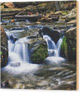 As The Water Flows  Wood Print