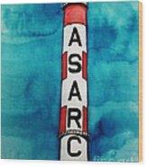 Asarco In Watercolor Wood Print
