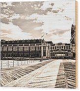 Asbury Park Boardwalk And Convention Center Wood Print