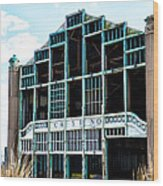Asbury Park Casino - My City In Ruins Wood Print by Bill Cannon
