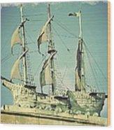 Asbury Park Convention Hall Ship Wood Print