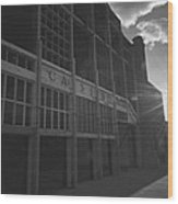 Asbury Park Nj Casino Black And White Wood Print
