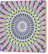 Ascending Eye Of Spirit Kaleidoscope Wood Print by Derek Gedney